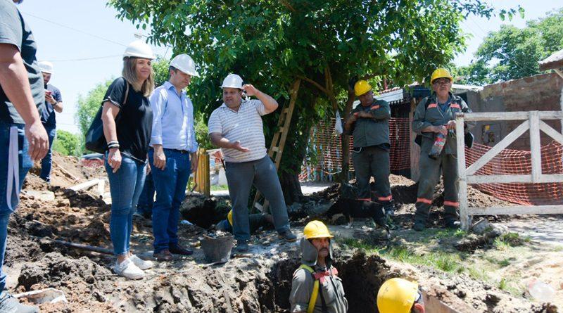 20191205 brown Obras de cloacas y agua potable en Malvinas Argentinas