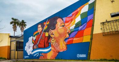20200907 solano mural juana azurduy Solano un mural de Juana Azurduy