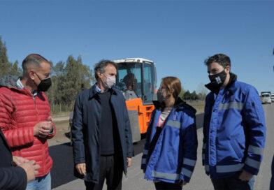 Katopodis recorrió las obras en la Autopista Presidente Perón